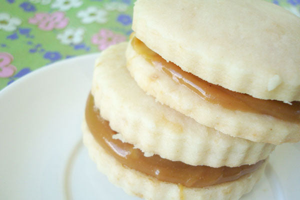 Peanut Butter Alfajores - sandwich another on top, so the bottom side is on the filling