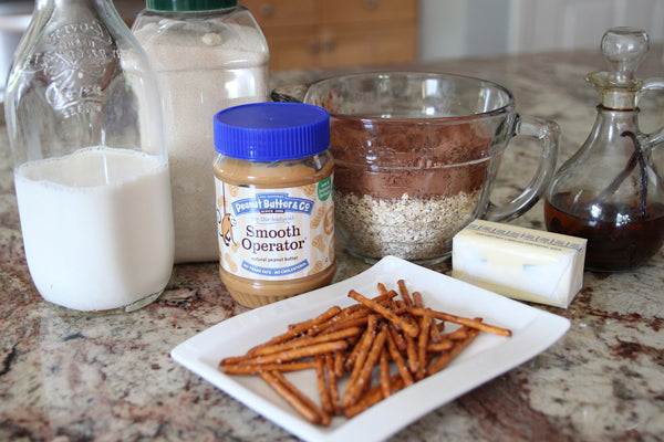 No Bake Peanut Butter Cocoa Pretzel Spiders - Ingredients Peanut Butter & Co. Smooth Operator Peanut Butter