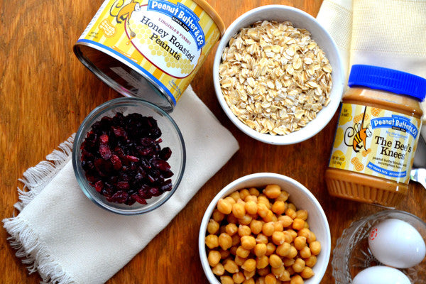 Peanut Butter Cranberry Chickpea Balls Ingredients - Peanut Butter & Co. Honey Roasted Peanuts
