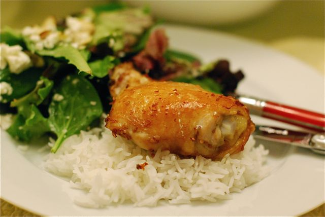 The Heat is On Peanut Butter Slow Cooker Chicken Thighs