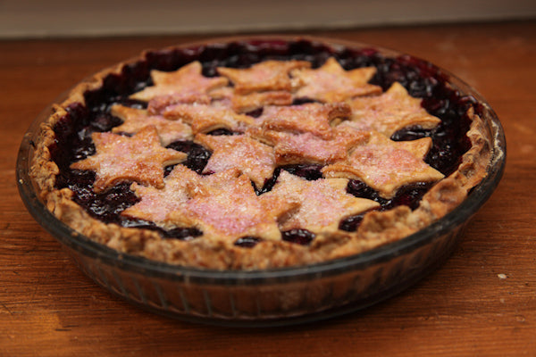 Concord Grape Pie With White Chocolate Peanut Butter Crust
