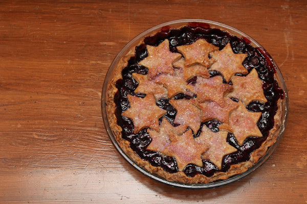 Concord Grape Pie with White Chocolate Peanut Butter Crust - Let cool to room temperature on a wire rack and serve same day