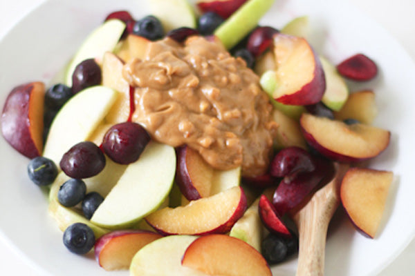Fruit Salad with Crunchy Peanut Butter Dressing - Top with the Crunch Time dressing. Enjoy!