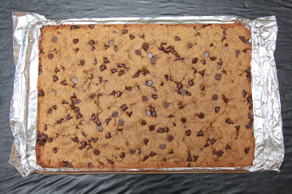 Coconut Chocolate Chip Peanut Butter Congo Bars - Bake for 20 to 25 minutes