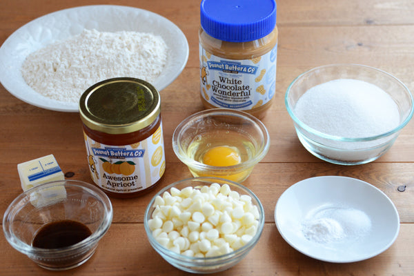 Peanut Butter, White Chocolate, & Apricot Tartlets Ingredients