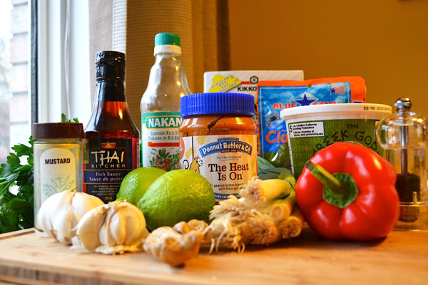 Thai-Inspired Crab Cakes with Spicy Peanut Butter Vinaigrette Ingredients - Peanut Butter & Co. The Heat Is On Peanut Butter