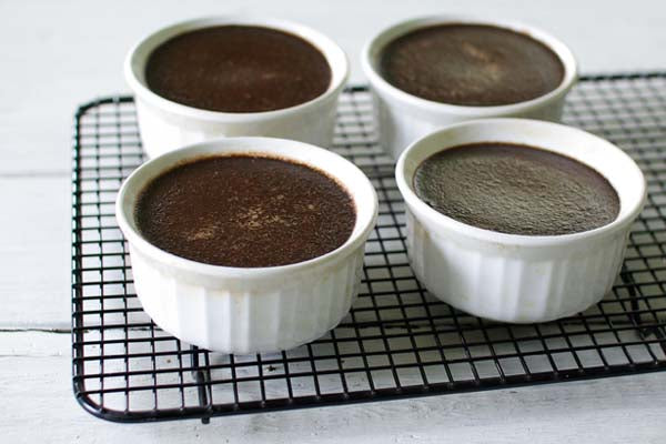 Chocolate Peanut Butter Pots de Crème - cool on wire rack