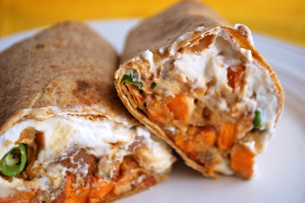 Chipotle Sweet Potato & Peanut Butter Wrap