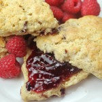 OAT AND WHITE CHOCOLATE PEANUT BUTTER SCONES