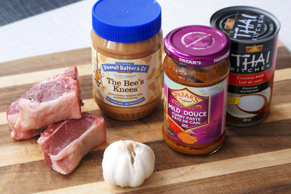 Seared Lamb Chops with Curried Peanut Butter Sauce Ingredients - Peanut Butter & Co. The Bee's Knees Peanut Butter