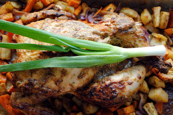 Asian-Inspired Roast Peanut Butter Chicken - Remove from the oven and let chicken rest for 20 minutes