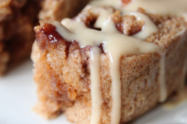 PB & J Rolls with Peanut Butter Yogurt Glaze