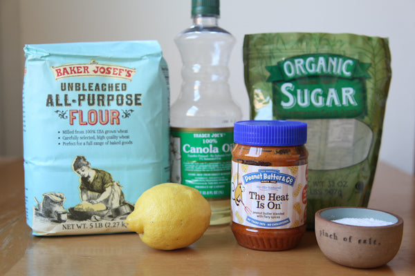 Spicy Lemon Peanut Cookies with The Heat Is On Peanut Butter Ingredients - Peanut Butter & Co. The Heat Is On Peanut Butter