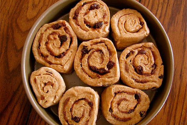Peanut Butter Cinnamon Rolls - Cover with a clean kitchen towel and let rise in a warm place