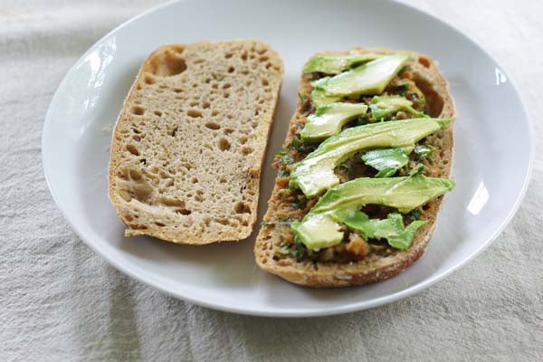 Peanut Butter Cucumber Sandwich - Top with the avocado and cucumber