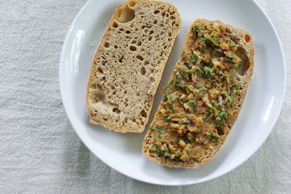 Peanut Butter Cucumber Sandwich - smear some of the peanut butter mixture on four slices of bread