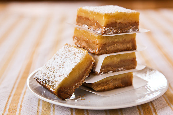 Honey Lemon Bars with The Bee's Knees Peanut Butter Crust