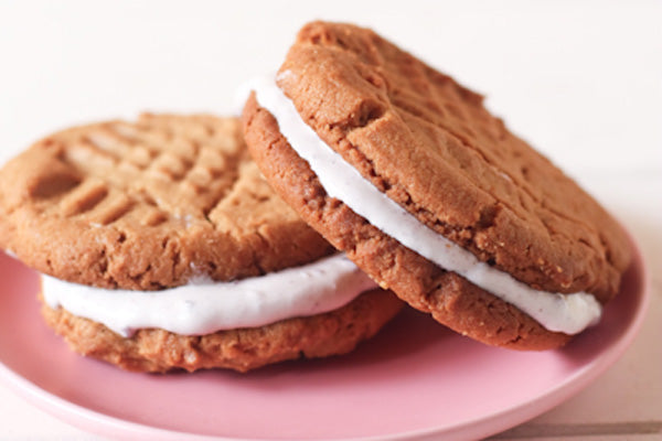 PB&J Ice Cream Sandwiches - Place in freezer for half an hour to firm up. Enjoy!