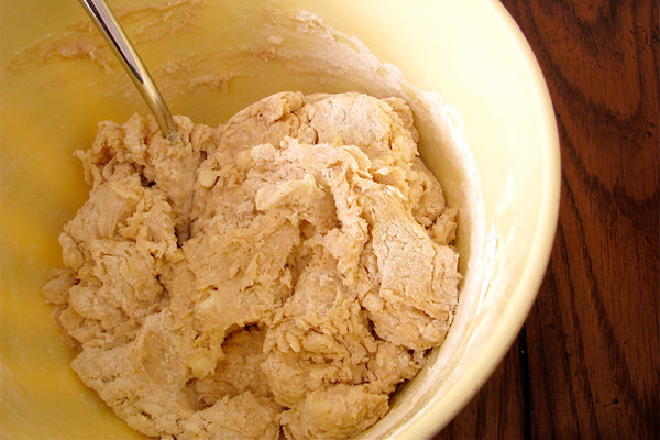Peanut Butter Buttermilk Biscuits - Dough will be slightly dry and crumbly