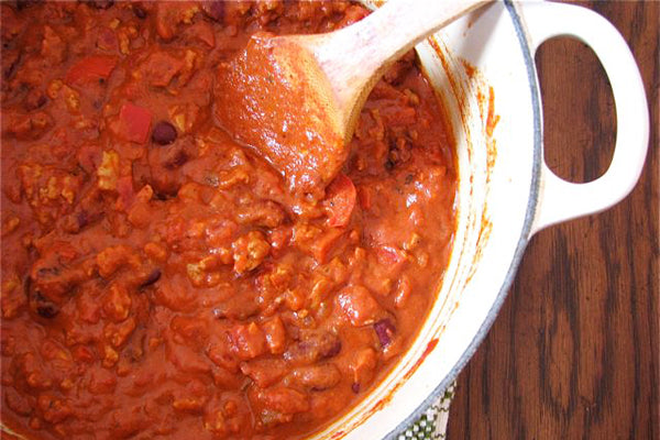Peanut Butter Chicken Chili - Reduce heat to low, and simmer at least 2 hours, stirring occasionally