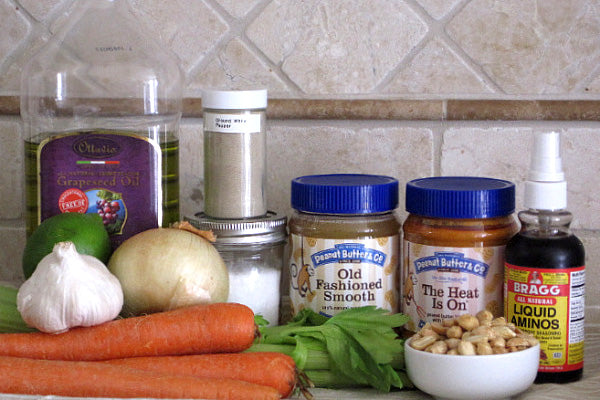 The Heat Is On Peanut Butter Carrot Soup Ingredients - Peanut Butter & Co. The Heat Is On Peanut Butter