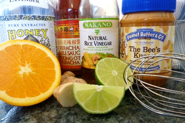 Red Chili and Peanut Butter Glazed Salmon Ingredients - Peanut Butter & Co. The Bee's Knees Peanut Butter