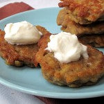 Apple Peanut Butter Latkes
