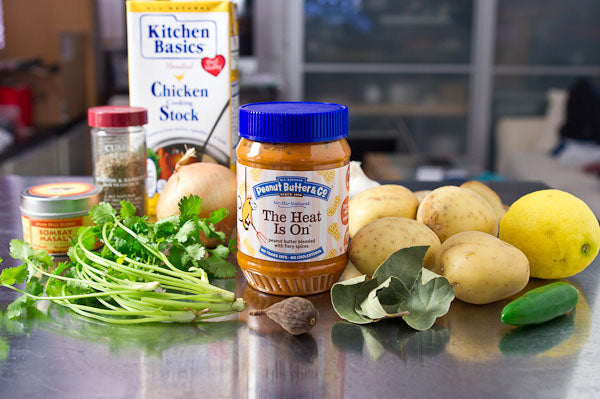 Curried Potato with Peanut Butter Potage ingredients - Peanut Butter & Co. The Heat Is On Peanut Butter