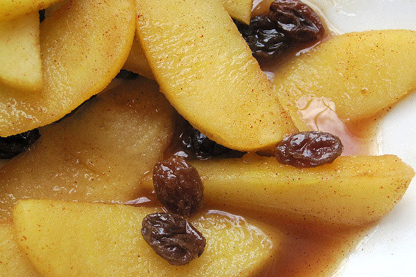 Grilled Fruit & Peanut Butter Dessert Sandwich - Add apples, palm sugar, cinnamon, and salt to skillet and cook until they're just beginning to soften
