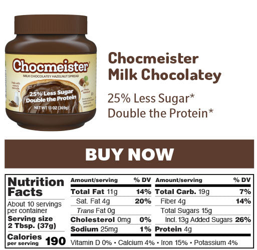 chocmeister milk chocolatey nutrition panel