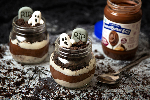 Spooky Peanut Butter Pudding Parfaits