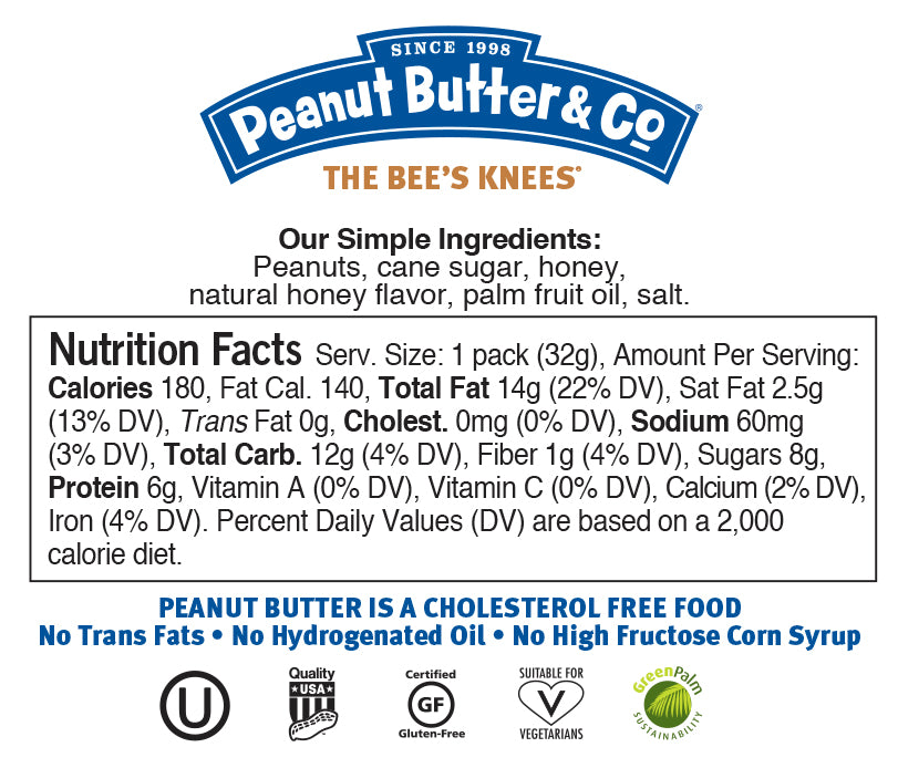 the bee's knees squeeze packs nutrition