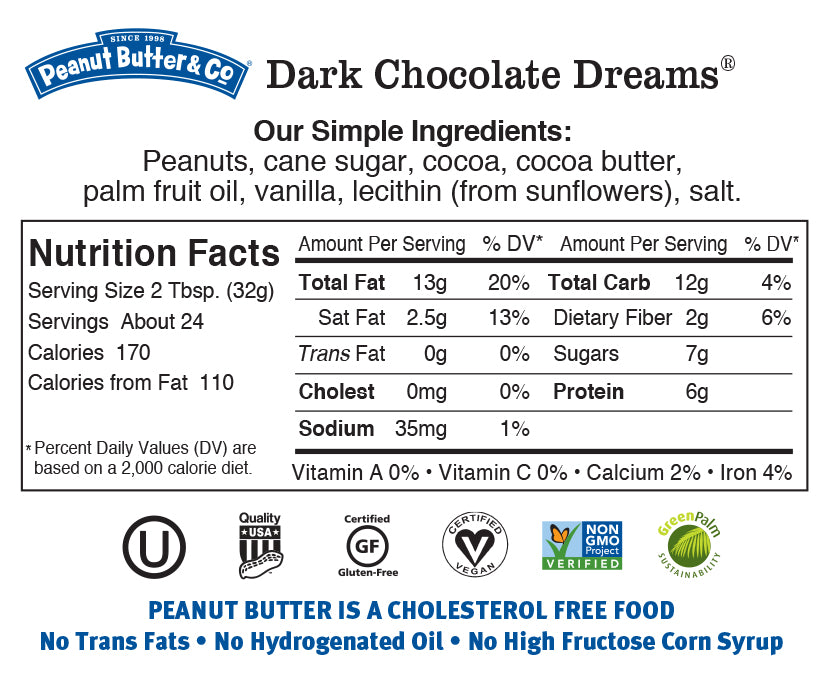 dark chocolate dreams 28oz nutrition