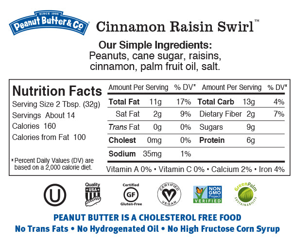 cinnamon raisin swirl nutrition