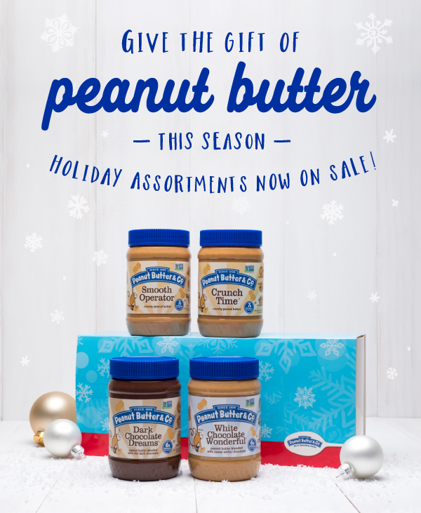 Give the gift of peanut butter this holiday season!