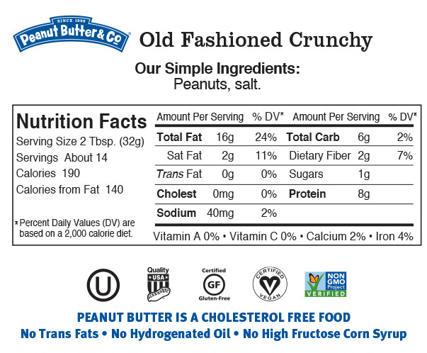 old fashioned crunchy nutrition
