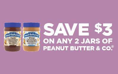 save $3 on any 2 jars of peanut butter & Co. peanut butter