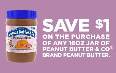 save $1 on the purchase of any peanut butter & Co. peanut butter