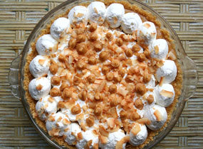 Triple Peanut Butter Coconut Cream Pie Recipe