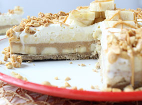 Frozen Peanut Butter Banana Cream Pie Recipe