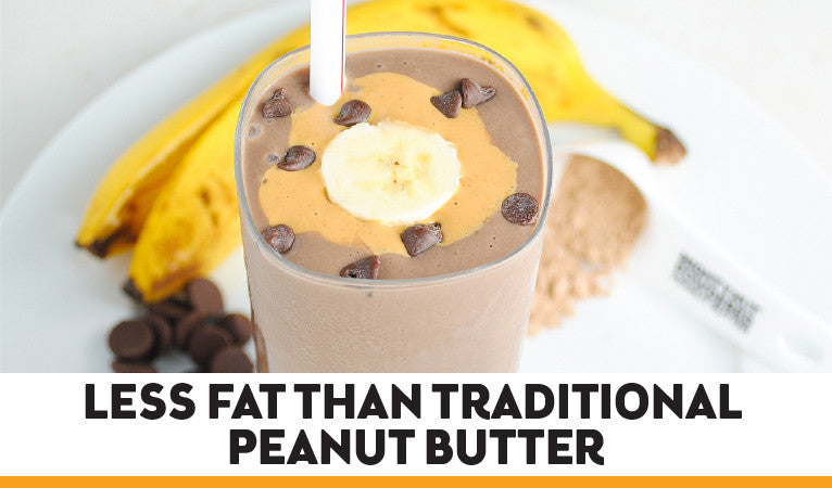 less fat than traditional peanut butter