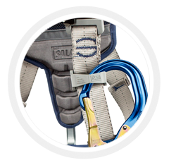 Built-In Lanyard Keepers