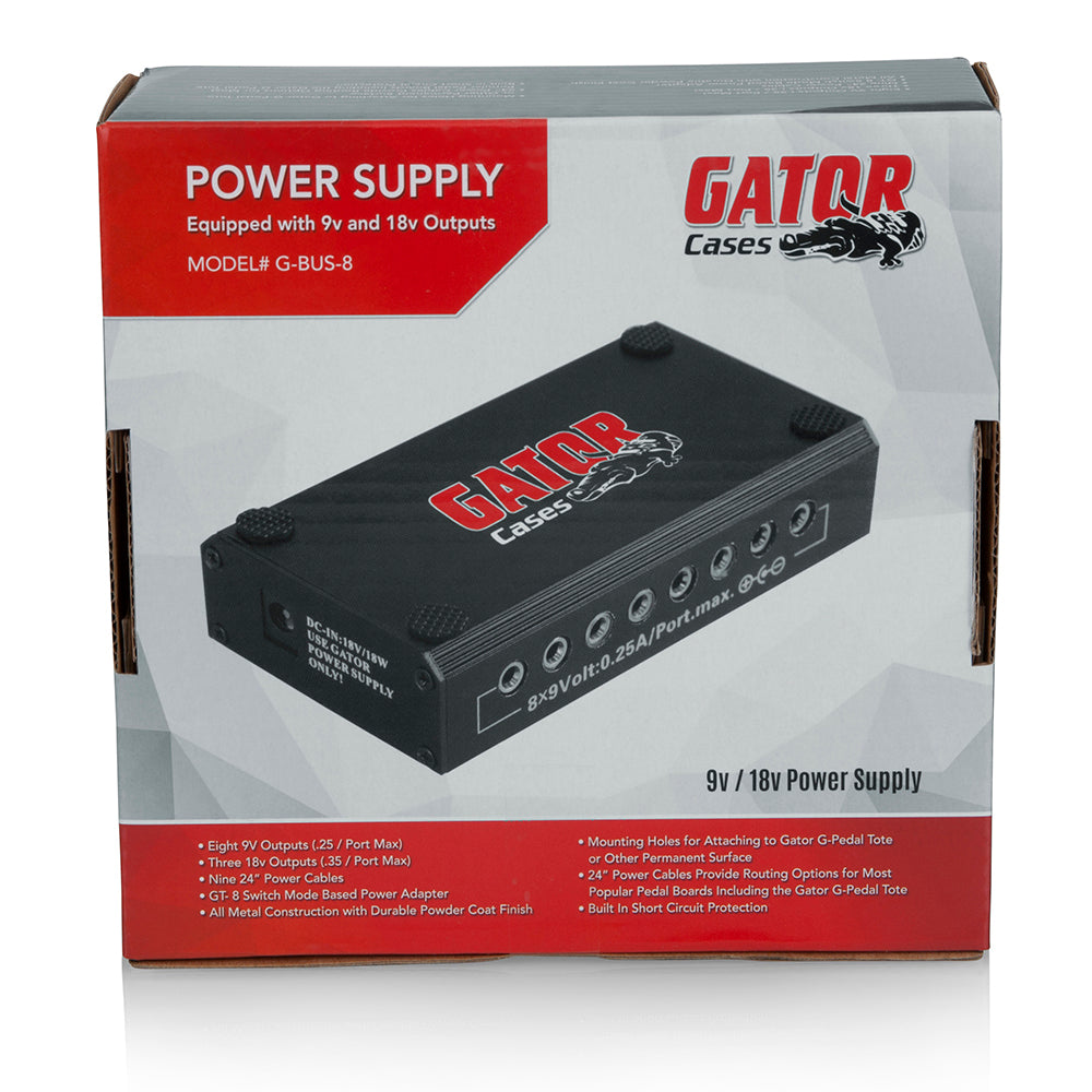 Gator Cases Pedal Board Power Supply Mtn Shop 9v Output Switching