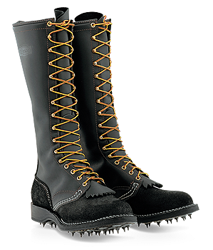 "WESCO® Timber Black Leather Boots (12"" & 16"") 2912SI/2916SI"