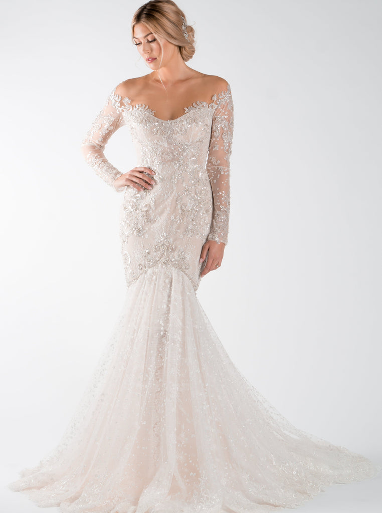 Berta - 17-129 - Wedding Dress - Novelle Bridal Shop