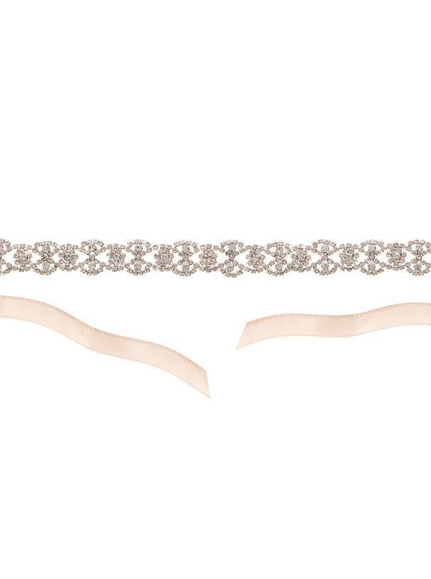 Elizabeth Bower - Iris Sash- Rose Gold - accessories - Novelle Bridal Shop