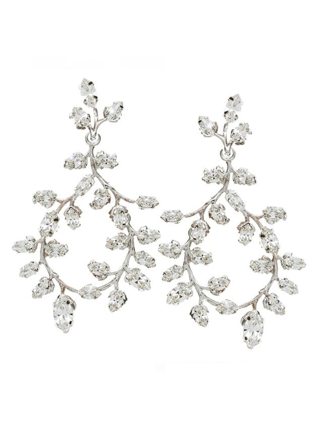 Elizabeth Bower Vine Crystal Earrings Novelle Bridal Shop