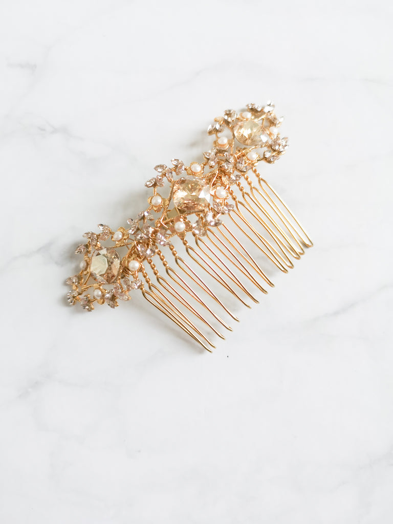 Lovebird Collection - Kahlo Comb - accessories - Novelle Bridal Shop