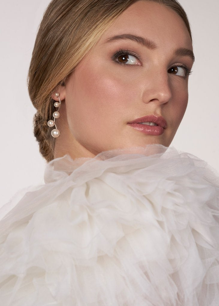 Elizabeth Bower - Pearlette Drop Earrings - accessories - Novelle Bridal Shop