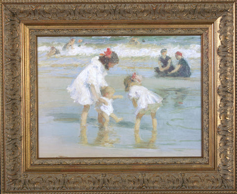 CHILDREN AT THE SEASHORE